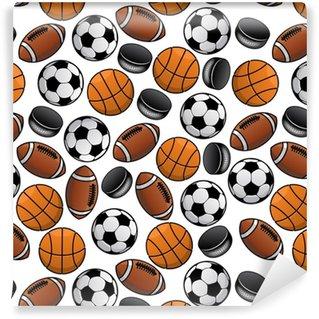 Vinylová Tapeta Sportovní míče a puky bezproblémové vzorek