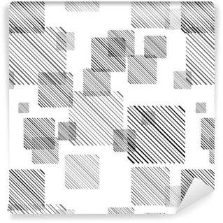 Tapeta winylowa Streszczenie szwu z zestawem linii i kwadratów.