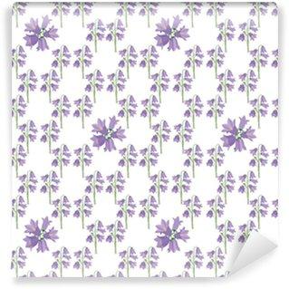 Vinylová Tapeta Tisk, бесшовный фон из колокольчиков, полски цветы