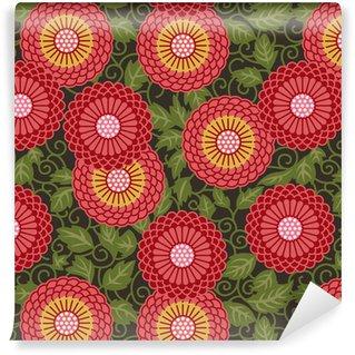 Vinylová tapeta na míru Tradiční květiny bezešvé vzor