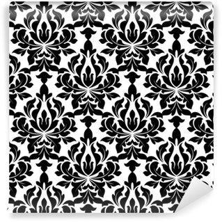 Vinylová Tapeta V černé barvě květinové Arabesque bezešvé vzor