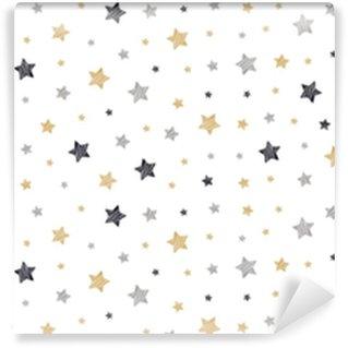 Vinylová Tapeta Vánoční hvězdy čmáranice kreslení karty bílá izolované pozadí