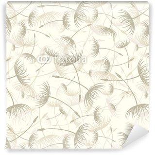 Vinylová Tapeta Vector. Elegantní bezešvé pampeliška vzor