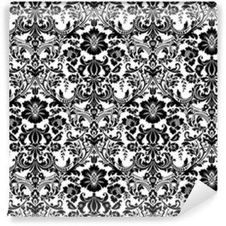 Vinylová Tapeta Vektor bezešvé damask vzor. černobílý obraz. bohatý ornament, starý damaškový vzor pro tapety, textil, scrapbooking apod.