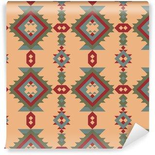 Vinylová Tapeta Vektor bezešvé etnický vzor s americkými indickými motivy.