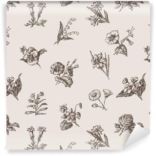 Vinylová Tapeta Vzorek různých květinových svazků