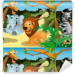 Afrykańskie zwierzęta w dżungli.