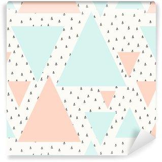 Abstrakt geometrisk mønster Personlige vaskbare tapet