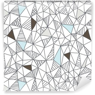 Abstrakt sømløs doodle mønster Vaskbare Tapet