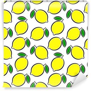 Lyse gule citron baggrund Personlige vaskbare tapet