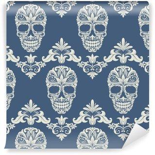 Skull Swirl Dekorativ Mønster