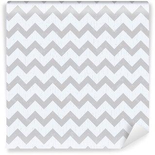Sømløse chevron grå mønster Vaskbare Tapet