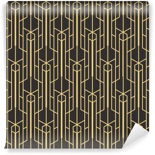 Abstract art deco seamless monochrome background Vinyl custom-made wallpaper