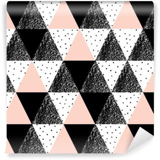 Abstract Geometric Pattern Vinyl Wallpaper