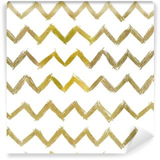 abstract seamless golden pattern Vinyl Custom-made Wallpaper