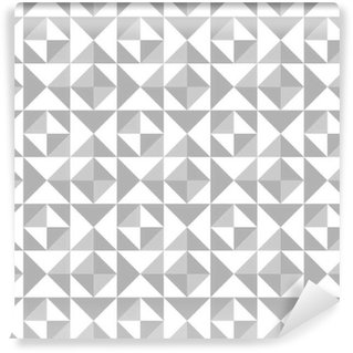 Abstract seamless pattern with triangles Vinyl Custom-made Wallpaper