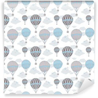 Background with hot air balloons Vinyl Custom-made Wallpaper