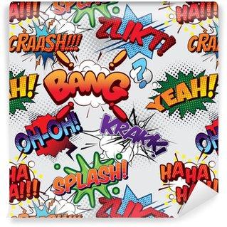 Bang Seamless comics background Vinyl Custom-made Wallpaper