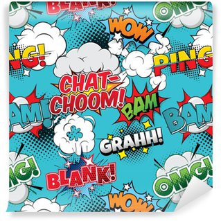 Chat-choom Seamless comics background Vinyl Custom-made Wallpaper