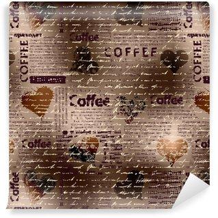 coffee brown pattern Vinyl custom-made wallpaper