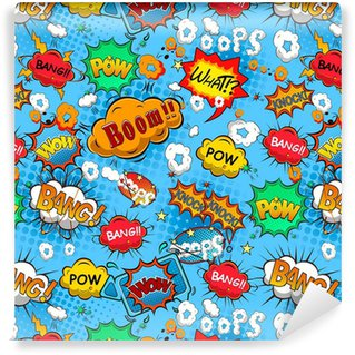 Comic speech bubbles seamless pattern vector Vinyl custom-made wallpaper