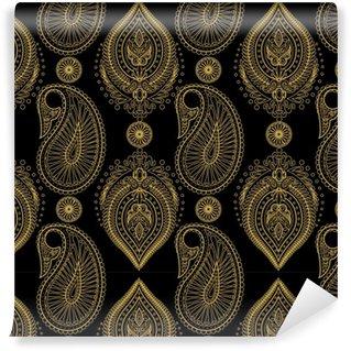 Damask paisley seamless vector pattern. Floral vintage background Vinyl Custom-made Wallpaper