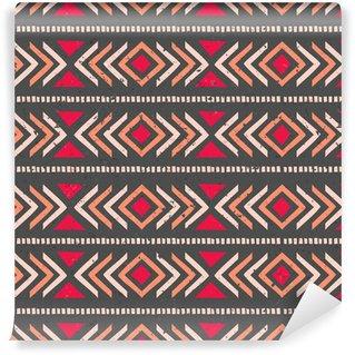 Ethnic Seamless Background Vinyl Custom-made Wallpaper