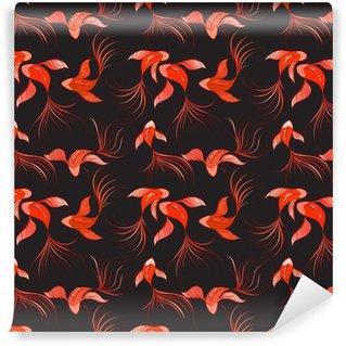 fish seamless pattern Vinyl Custom-made Wallpaper