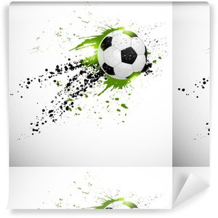 Flying soccer ball Vinyl Custom-made Wallpaper