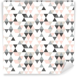 e4e491ae Geometric abstract pattern with triangles in muted retro colors. Vinyl  custom-made wallpaper