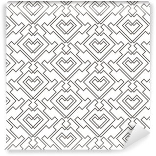 Geometric abstract seamless pattern. Linear motif background Vinyl custom-made wallpaper