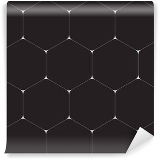Geometric background, hexagons. Line design. Vector illustration EPS 10 Vinyl Custom-made Wallpaper