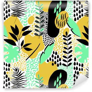 Hand Drawn Abstract Seamless Pattern Vinyl Custom-made Wallpaper