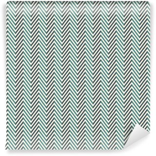 Herringbone abstract background. Blue colors seamless pattern with chevron diagonal lines. Vinyl custom-made wallpaper