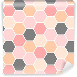 Hexagon Seamless Pattern Vinyl custom-made wallpaper