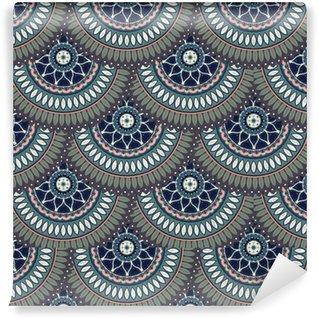 Ornate floral seamless texture, endless pattern with vintage mandala elements. Vinyl Wallpaper