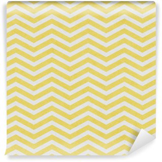 Pale Yellow and White Zigzag Textured Fabric Background Vinyl Wallpaper