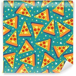 pizza seamless Vinyl Custom-made Wallpaper