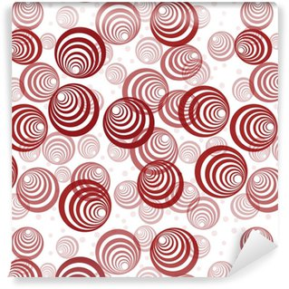 Retro background with abstract red circles Vinyl Custom-made Wallpaper