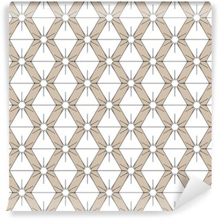Rhombus and star seamless pattern Vinyl custom-made wallpaper