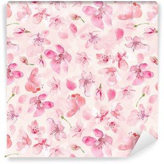 sakura flower background Vinyl Custom-made Wallpaper