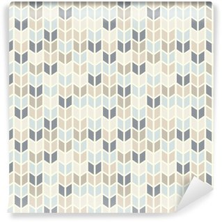 Seamless geometric pattern in pastel tints Vinyl Wallpaper