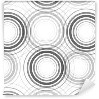 Seamless monochrome circles pattern Vinyl Custom-made Wallpaper