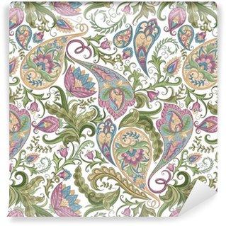 Seamless Paisley Pattern Vinyl Wallpaper