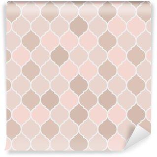 Seamless pattern pink tiles, vector Vinyl Wallpaper