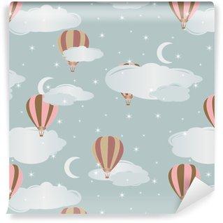 Seamless pattern with air balloons. Vector illustration. Vinyl custom-made wallpaper