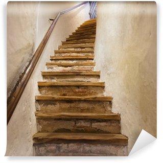 Stairs in Castle Kufstein - Austria Vinyl Custom-made Wallpaper