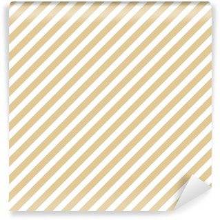Stripe beige seamless pattern Vinyl custom-made wallpaper