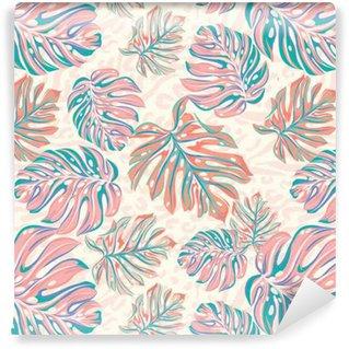 vector leaves for wallpaper, interior, uholstery. seamless design. Vinyl Custom-made Wallpaper