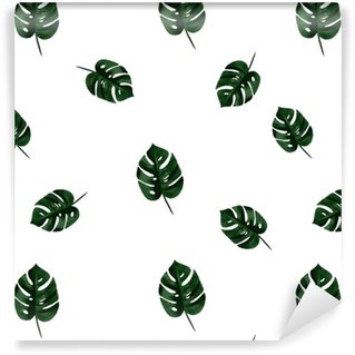 Vector Monstera Pattern Vinyl Custom-made Wallpaper